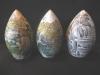 Buddha Eggs 12,13,14  outsides